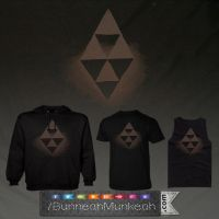 Hyrule Lorule Triforce by Bunneahmunkeah