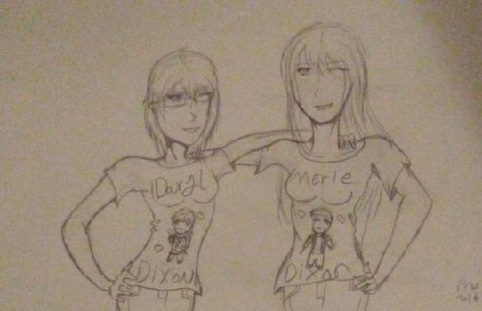 Dixon Brother's girls. by Mistwolf4