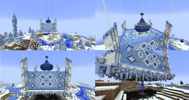 Minecraft Snow Castle - Day View by Arienne-Keith