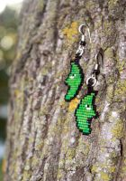 Metapod Beaded Earrings by purpleyoshi1