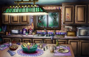 Kitchen Painted by Benjamin-the-Fox