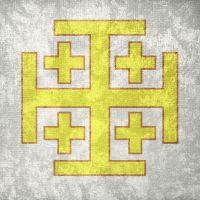 Kingdom of Jerusalem ~ Grunge Flag (1099 - 1187) by Undevicesimus