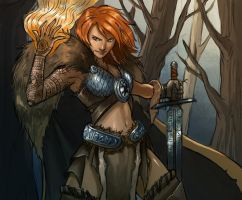 Red Warrior by iara-art