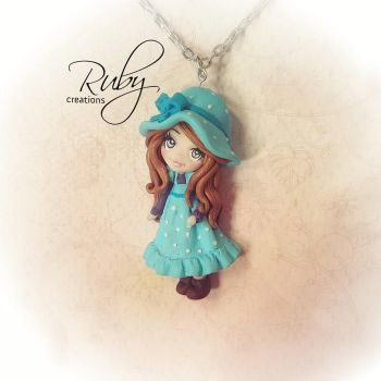 Ruby doll necklace-Sarah Kay inspired by Ruby-creations