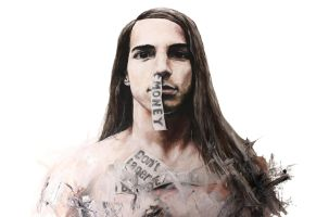 Anthony Kiedis Oil Painting by Xox-dreamer-xoX