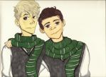 Scorpius Malfoy and Albus Severus Potter by lillianflamegirl2014