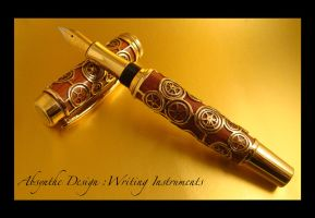 Steampunk Fountain Pen 1 by Absynthe Design by azazel-is-burning