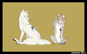 Crowhitewolf and Snap by Astarcis