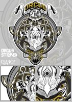 orcus sticker and poster by C-CLANCY