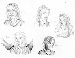Gift - Sketched Busts by Lyricanna