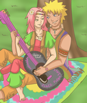 NaruSaku Decades: 70s by Kitsunena