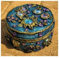 Blue trinket box I by Saartj1e