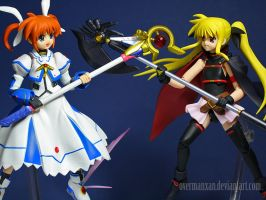 Figma Nanoha vs Fate by OvermanXAN