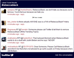 Rebecca Black - Twitter Feed by Chidokyo