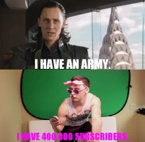 Loki VS. Markiplier: I Have 400,000 Subscribers by WorldwideImage