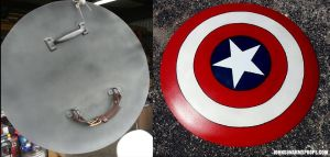 Captain America Shield Replica Commission by JohnsonArms