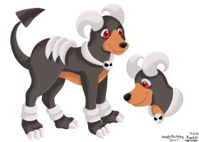 Houndoom for WolvenIllusion by matrixdigivolution