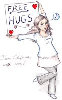 Free Hugs from California by Rhapsodyinaqua
