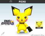 Pichu Smash Wii U by YoshiNoJas