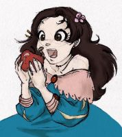 Snow White and the apple by MoonLightRose17