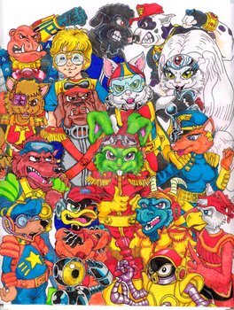 Bucky O'Hare and friends color by Dragnmastralex