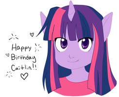 Happy Birthday from Twilight Sparkle by korette