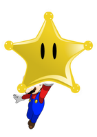 Mario got a Grand Star by faren916