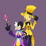 Dimentio And Bill Cipher by Noah15th