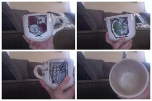 My Attack On Titan Mug/ Cup Thingy! by Anime-Quotes