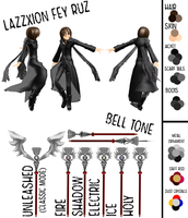 RWBY: LazzXion Fey Ruz (Reference) by LazzXion-Keyblade