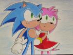 Sonic And Amy by DarkGamer2011