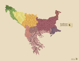 Balkan Peninsula by yavor