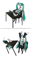 Miku table flip by Cabulb