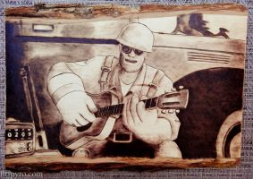 TF2 - Meet the Engineer - wood burning by brandojones