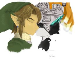 Link Kissing Midna -PS'ed- by TwiliMidna