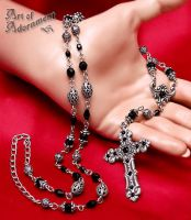 Gothic Rosary Necklace by ArtOfAdornment