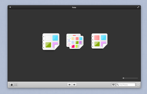 Mock up for Foto, an image viewer and album manage by kxmylo