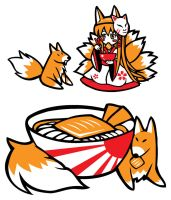 Kitsune Udon by Yuriwhale