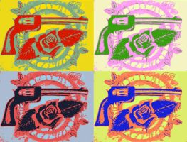 Guns N' Roses Logo redesign [POP-ART EDIT] by VRocketQueen