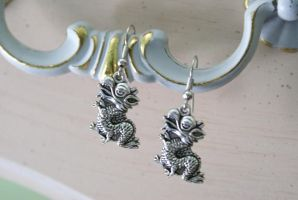 Tiny Dragon Earrings by MonsterBrandCrafts