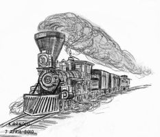 4-4-0 American Steam Engine by KEArnold