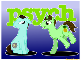 Psych ponies by Silver-Fox17