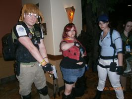 Jill Valentine, Chris, and Claire Redfield by enterprisedavid