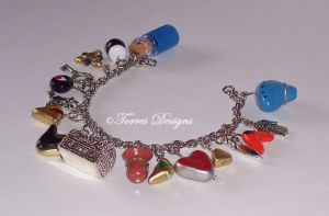Ocarina of Time Charm Bracelet 8 ZELDA by TorresDesigns