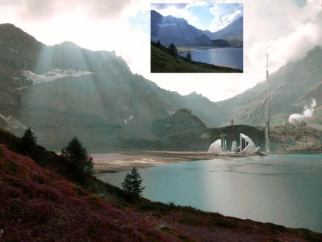 Matte Painting : First attempt (wip) ! by JM-i2