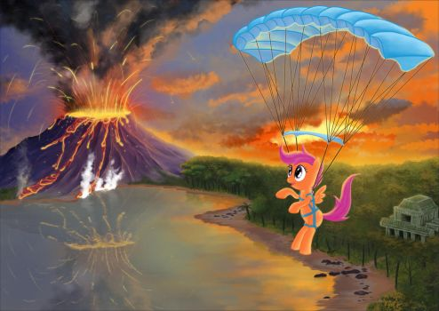 Scootaloo's Big Adventure poster (no text) by Scootabyte