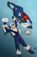 Spidergirl vs Black Cat commis by mhunt