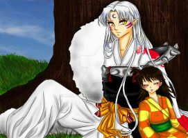 Sesshomaru and Rin by manu-chann