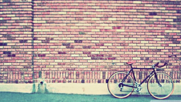 Wall bicycle by JabyUnicornio