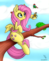 Fluttershy (coloring) [2] by Bleff172